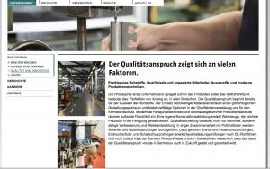 SIMONSWERK GmbH internet presentation, Germany