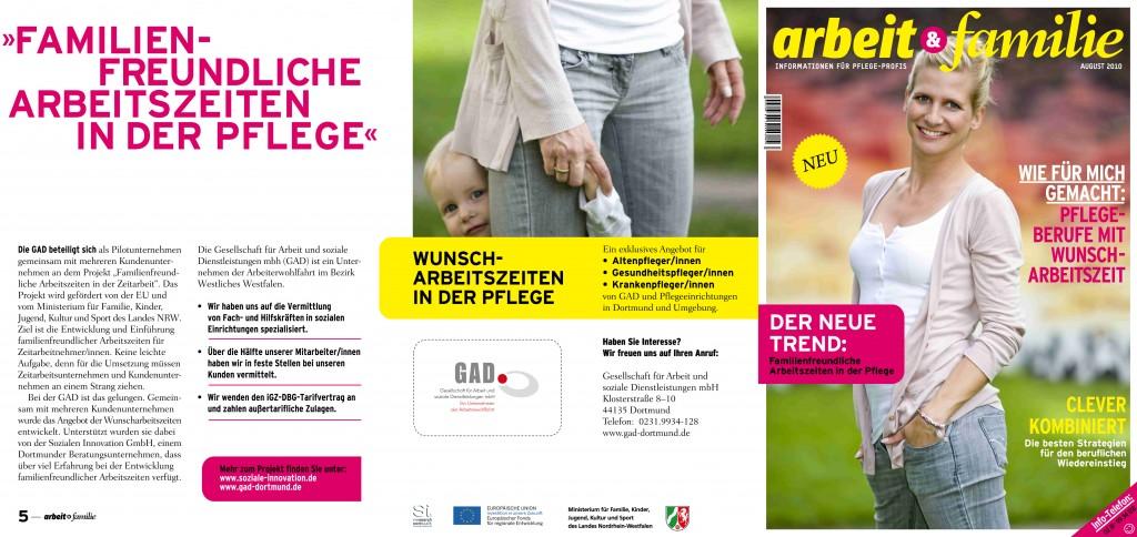 Brochure Gesellschaft für Arbeit und soziale Dienstleistungen mbH / Dortmund, Germany
